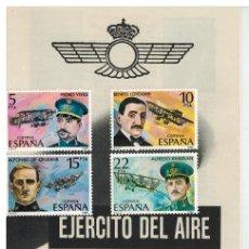 Sellos: CURIOSO Y BONITO FOLLETO DEL EJERCITO DEL AIRE CON SERIE 2595/98. Lote 120623851