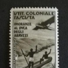 Sellos: SELLO COLONIAS ITALIANAS 1934 NUEVO CON SEÑAL DE FIJASELLOS. Lote 123524303