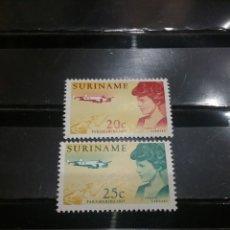 Sellos: SELLOS R. SURINAM (SURINAME) NUEVOS. 1967. PERSONAJES FAMOSOS. PILOTO. AVION. AVIACION. MAPA. TRANSP. Lote 130811385