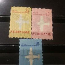 Sellos: SELLOS R. SURINAM (SURINAME) NUEVOS. 1970. AVIACION. TRANSPORTES. PLANOS. CIUDADES. AVION. PARAMAIBO. Lote 130938749