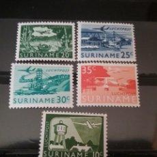 Sellos: SELLOS R. SURINAM (SURINAME) NUEVOS. 1976. AVIACION. AVION. DRAGA. PUENTE. BARCO. SELVA. NATURALEZA.. Lote 131158499