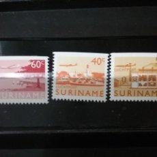 Sellos: SELLOS R. SURINAM (SURINAME) NUEVOS. 1978. AVIONES. AVIACION. PAISAJE. LAGO. AEROPUERTO. PIENTE. TRA. Lote 131204469