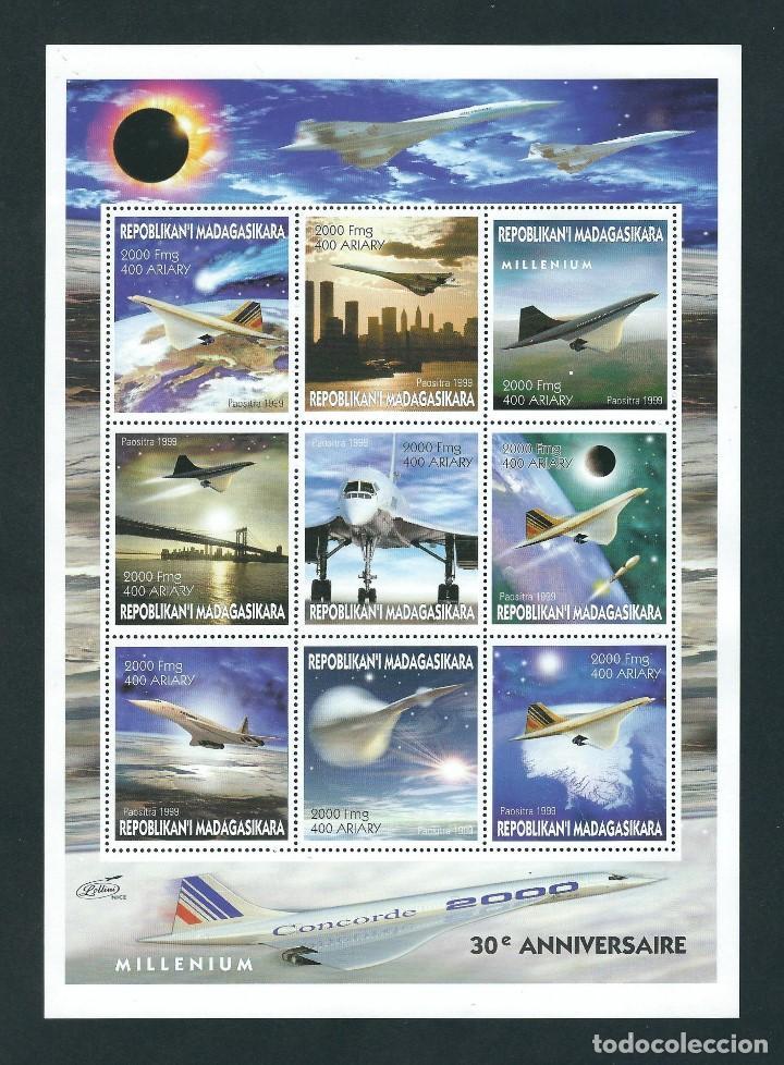 SELLOS MADAGASCAR 1999 CONCORDE 30 ANIVERSARIO (Sellos - Temáticas - Aviones)