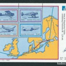 Sellos: SELLOS FINLANDIA 1988 AVIONES . Lote 132399354