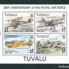 Sellos: TUVALU 1998 80 ANIVERSARIO DE LA ROYAL AIR FORCE. Lote 132400074