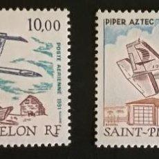 Sellos: SAINT-PIERRE ET MIQUELON 1989** / 1991** AVIONES Y&T 68 / 70 AEREOS. Lote 133564074