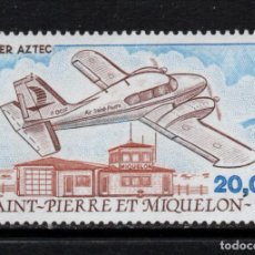 Sellos: SAN PIERRE AEREO 68** - AÑO 1989 - AVIONES - PIPER AZTECA. Lote 133640194