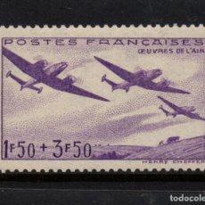 Sellos: FRANCIA 540** - AÑO 1942 - AVIONES - PRO OBRAS DEL AIRE. Lote 177846824