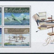 Sellos: SELLOS GIBRALTAR 2010 100 AÑOS DE HIDROAVIONES. Lote 137568794
