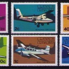 Sellos: SELLOS GRENADA GRENADINES 1976 Y&T 164/69** AVIONES. Lote 137876230