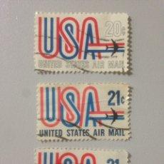 Sellos: LOTE DE SELLOS ESTADOS UNIDOS. UNITED STATES OF AMERICA. USA. AIR MAIL.. Lote 139896793