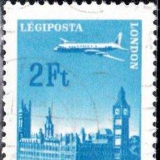 Sellos: 1966-1967 - HUNGRIA - AVIONES SOBREVOLANDO CIUDADES - LONDRES - CORREO AEREO - YVERT 285. Lote 140561186
