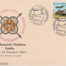 Sellos: AÑO 1982, CALELLA, ZEPPELIN SOBRE EL FARO, FC SF. Lote 141110174