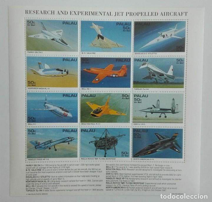 SELLOS PALAU 1995 Y&T AEREOS 40/51 AVIONES EXPERIMENTALES (Sellos - Temáticas - Aviones)