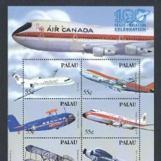 Sellos: SELLOS PALAU 2003 Y&T 1949/54** 100 YEARS OF AVIATION AIR CANADA. Lote 145291394