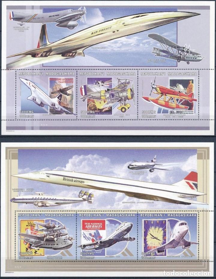 SELLOS MADAGASCAR 2004 CONCORDE 2 HOJAS (Sellos - Temáticas - Aviones)