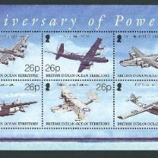Sellos: SELLOS BRITISH INDIAN OCEAN TERRITORY B.I.O.T 2003 100TH ANNIVERSARY OF POWERED FLIGHT. Lote 149717742