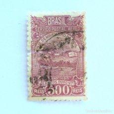 Sellos: SELLO POSTAL BRASIL 1933, 500 RS, AVION BIPLANO SANTOS DUMONT'S 14 BIS, USADO. Lote 151018934