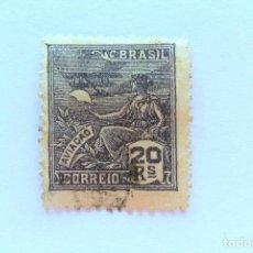 Sellos: SELLO POSTAL BRASIL 1936, 20 RS, AVIACION , USADO. Lote 151253890