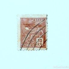Sellos: SELLO POSTAL BRASIL 1936, 10 RS, AVIACION, USADO. Lote 151341674