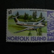 Briefmarken - TRANSPORTE-AVIONES-ISLA NORFOLK-1980-1 $... **(MLH)-BEECHCRAFT SUPER KING AIR - 152606318