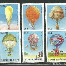 Sellos: SANTO TOME & PRINCIPE 1980 IVERT 584/9 *** HISTORIA DE LOS DIRIGIBLES - GLOBOS. Lote 152911438