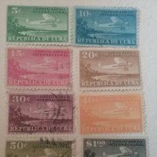 Sellos: SELLOS R. CUBA MTDOS/1931/CORREO AEREO INTERNACIONAL/AVIONES/AVIACION/PLAYAS/PAISAJES/AVIPNETA. Lote 153568656