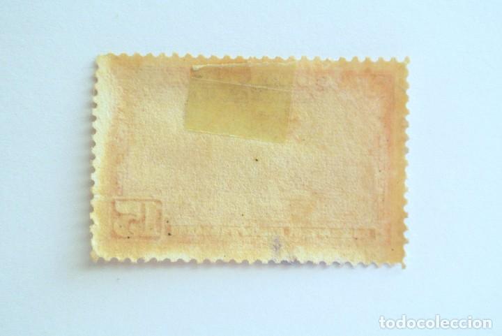 Sellos: Sello postal COSTA RICA 1953, 15 c, AEROPLANO SOBRE EL AEROPUERTO DE SAN JOSE, Usado - Foto 2 - 154740510