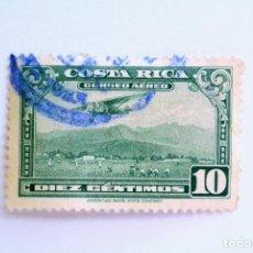Sellos: SELLO POSTAL COSTA RICA 1953, 10 C, AEROPLANO SOBRE EL AEROPUERTO DE SAN JOSE, USADO. Lote 154740926