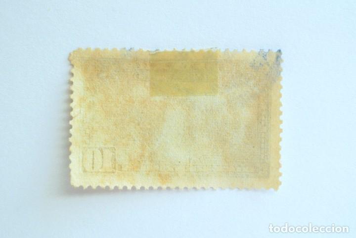 Sellos: Sello postal COSTA RICA 1953, 10 c, AEROPLANO SOBRE EL AEROPUERTO DE SAN JOSE, Usado - Foto 2 - 154740926
