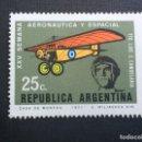 Sellos: ARGENTINA Nº YVERT 908*** AÑO 1971. DIA DE LA AVIACION. LUIS C. CANDELARIA. Lote 160048590
