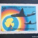 Sellos: ARGENTINA Nº YVERT 940*** AÑO 1973 10º ANIVERSARIO EXPEDICIONES AEREAS AL POLO SUR. Lote 160048670