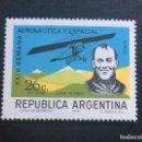 Sellos: ARGENTINA Nº YVERT A-136*** AÑO 1970. AVION MORANE SAULNIER 80 HP Y JORGE NEWBERRY. Lote 160048758