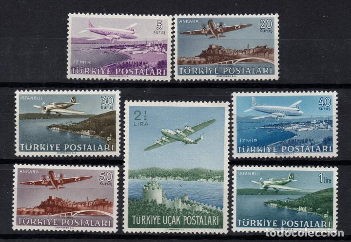 TURQUIA AEREO 12/18** - AÑO 1949 - AVIONES Y PAISAJES (Sellos - Temáticas - Aviones)