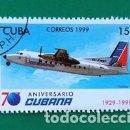 Sellos: SELLO CUBA (FOKKER) . Lote 161077078