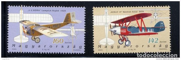 SELLOS HUNGRIA 2003 HISTORIA DE LA ACIACION HUNGARESA (Sellos - Temáticas - Aviones)