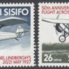 Sellos: SELLOS SAMOA I SISIFO 1977 CHARLES LINDBERGH. Lote 161873598