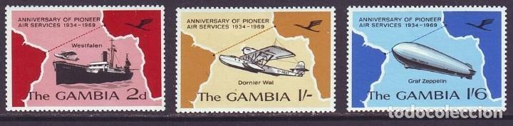 SELLOS GAMBIA 1969 AVIONES (Sellos - Temáticas - Aviones)