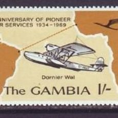 Sellos: SELLOS GAMBIA 1969 AVIONES. Lote 161873966
