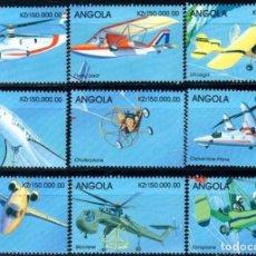 Sellos: SELLOA ANGOLA 1998 AVIONES Y HELICOPTEROS. Lote 161874818