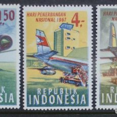 Sellos: SELLOS INDONESIA 1967 Y&T 516/18 AVIONES. Lote 161942998