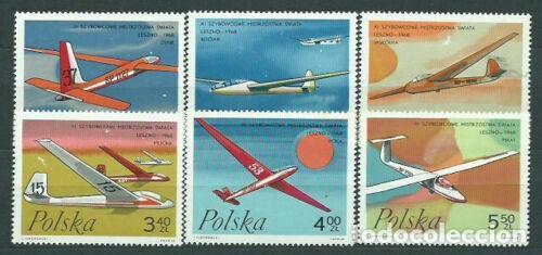 SELLOS POLONIA 1968 Y&T 1696/01 PLANEADORES / AVIONES (Sellos - Temáticas - Aviones)
