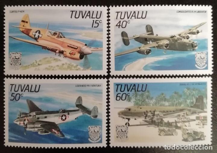 1985. AVIONES. TUVALU. 315 / 318. MODELOS DE COMBATE. SERIE COMPLETA. NUEVO. (Sellos - Temáticas - Aviones)