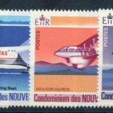 Sellos: SELLOS NOUVELLES-HEBRIDES 1972 Y&T 318/21 AVIONES. Lote 162341610