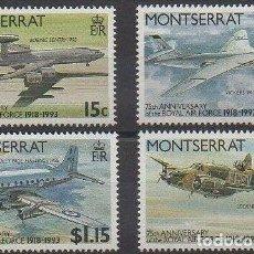 Sellos: SELLOS MONSERRAT 1993 Y&T 814/17** AVIONES MILITARES. Lote 162342010