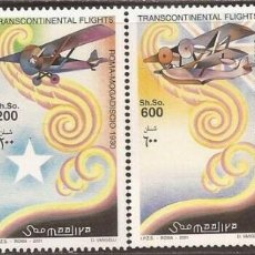 Sellos: SELLOS SOMALIA 2001 VUELOS TRANSCONTINENTALES . Lote 162343326