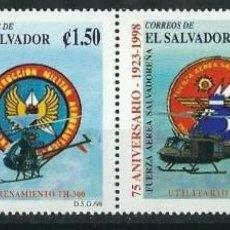 Sellos: SELLOS EL SALVADOR 1998 Y&T 1369/72** AVIONES. Lote 162444554