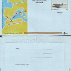 Sellos: ESPAÑA 1989 - ES A214 - AEROGRAMA - LINEA CADIZ ROMA. Lote 162974102