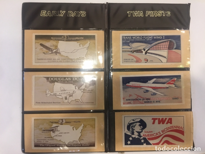 Sellos: SELLO, AVIACIÓN POSTAL TWA TRANS WORLD AIRLINES. EARLY DAYS, TWA FIRSTS - Foto 2 - 164733366