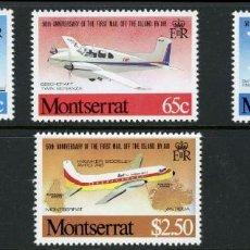 Sellos: SELLOS MONTSERRAT 1980 50 ANIVERSARIO DEL PRIMER CORREO AEREO AVIONES. Lote 165016974